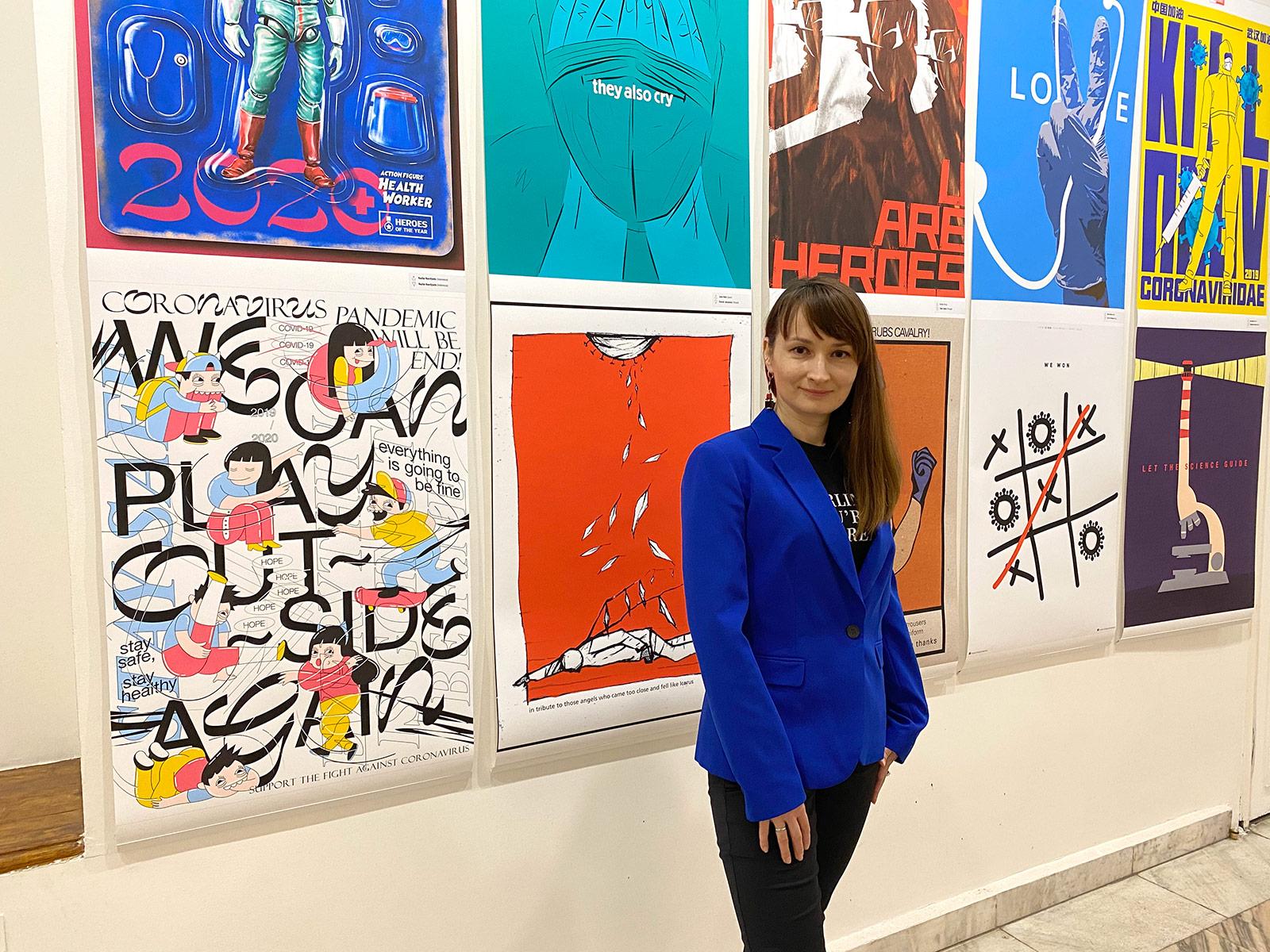 Куратор плакатной акции Мария Сулейменова