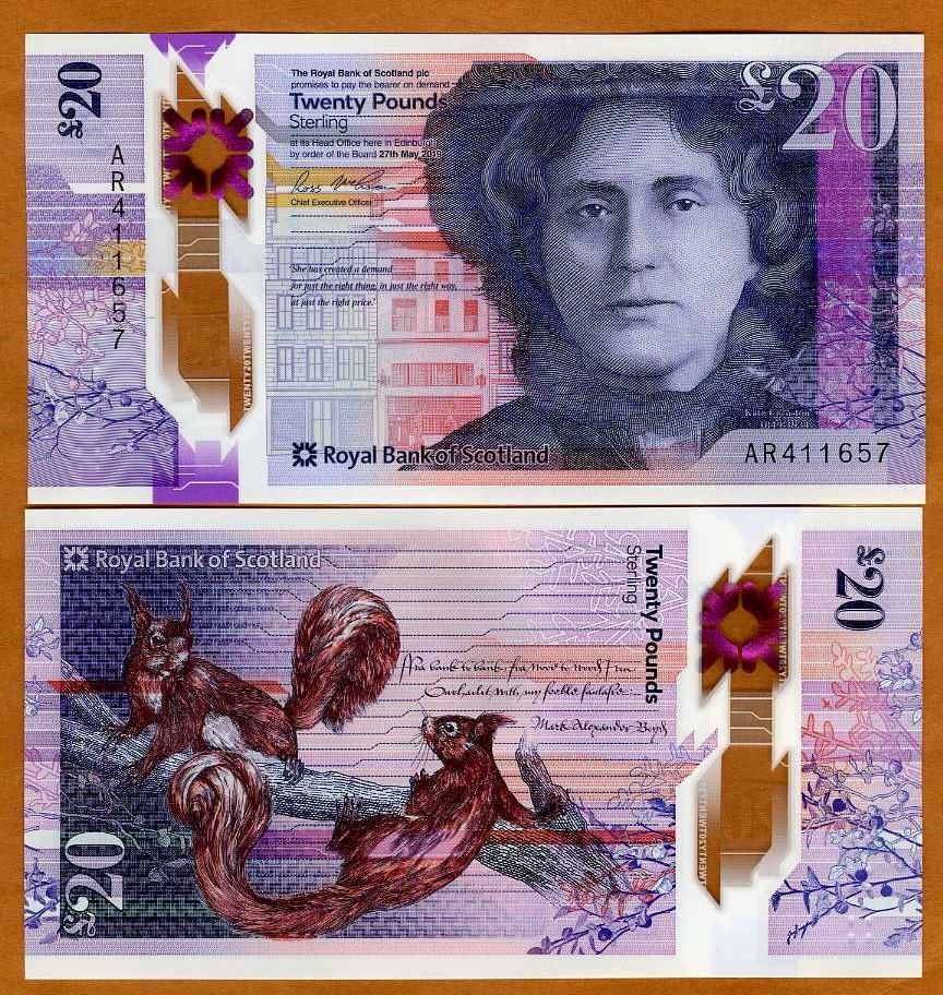 Дизайн новой банкноты банка Шотландии