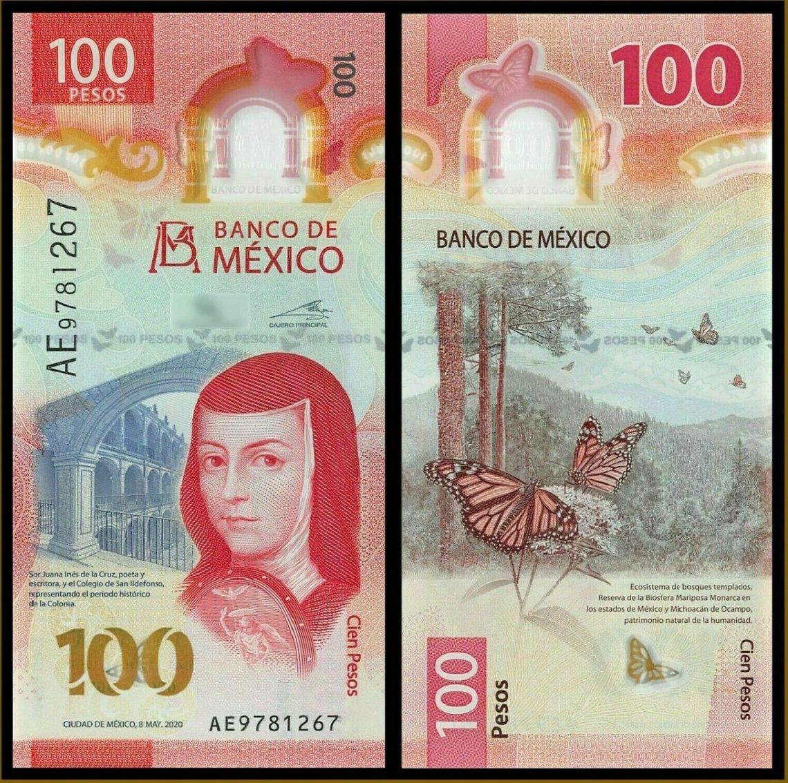 Дизайн новой мексиканской банкноты 100 песо