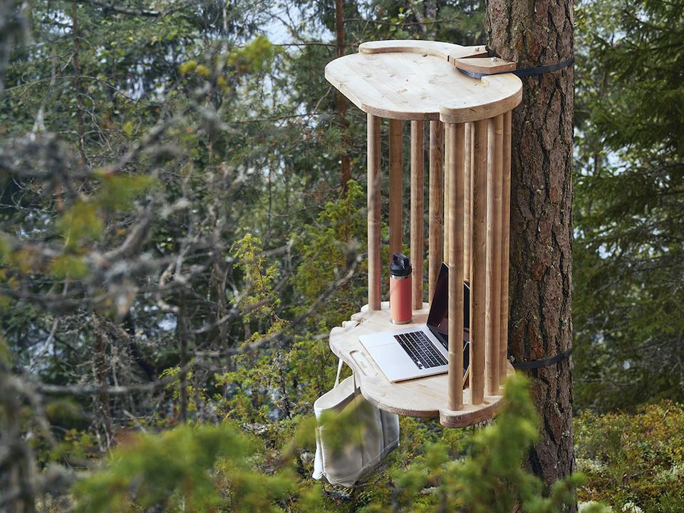 Рабочая станция в лесу