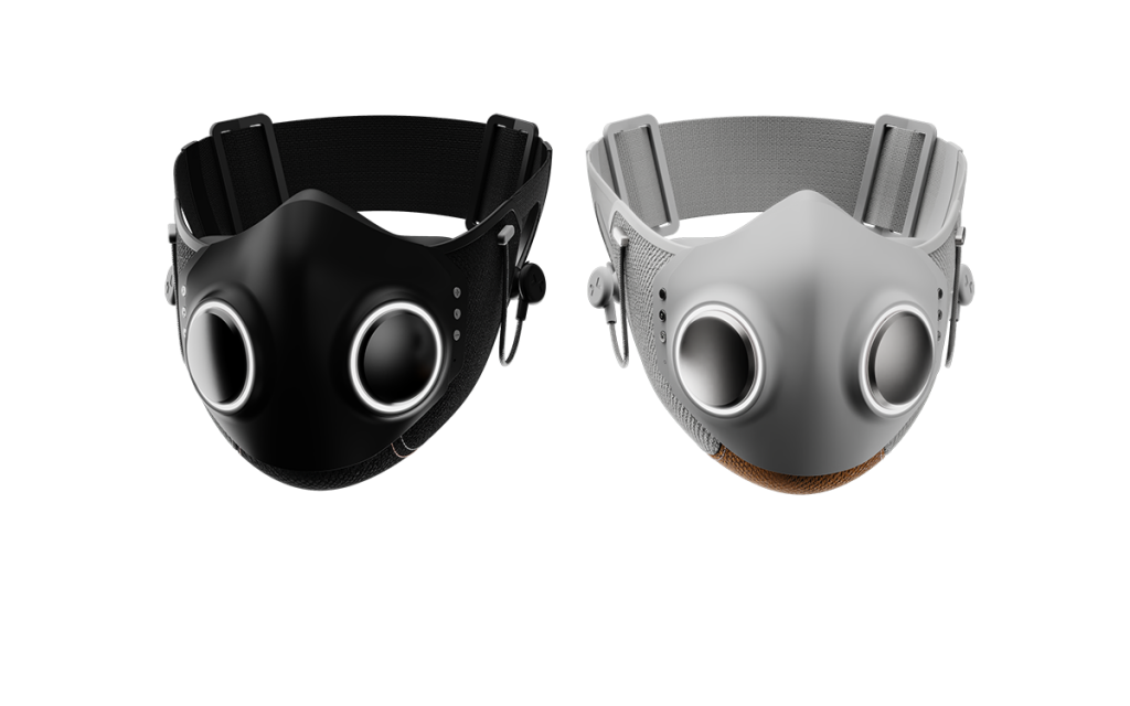 Дизайн маски для лица со встроенными наушниками