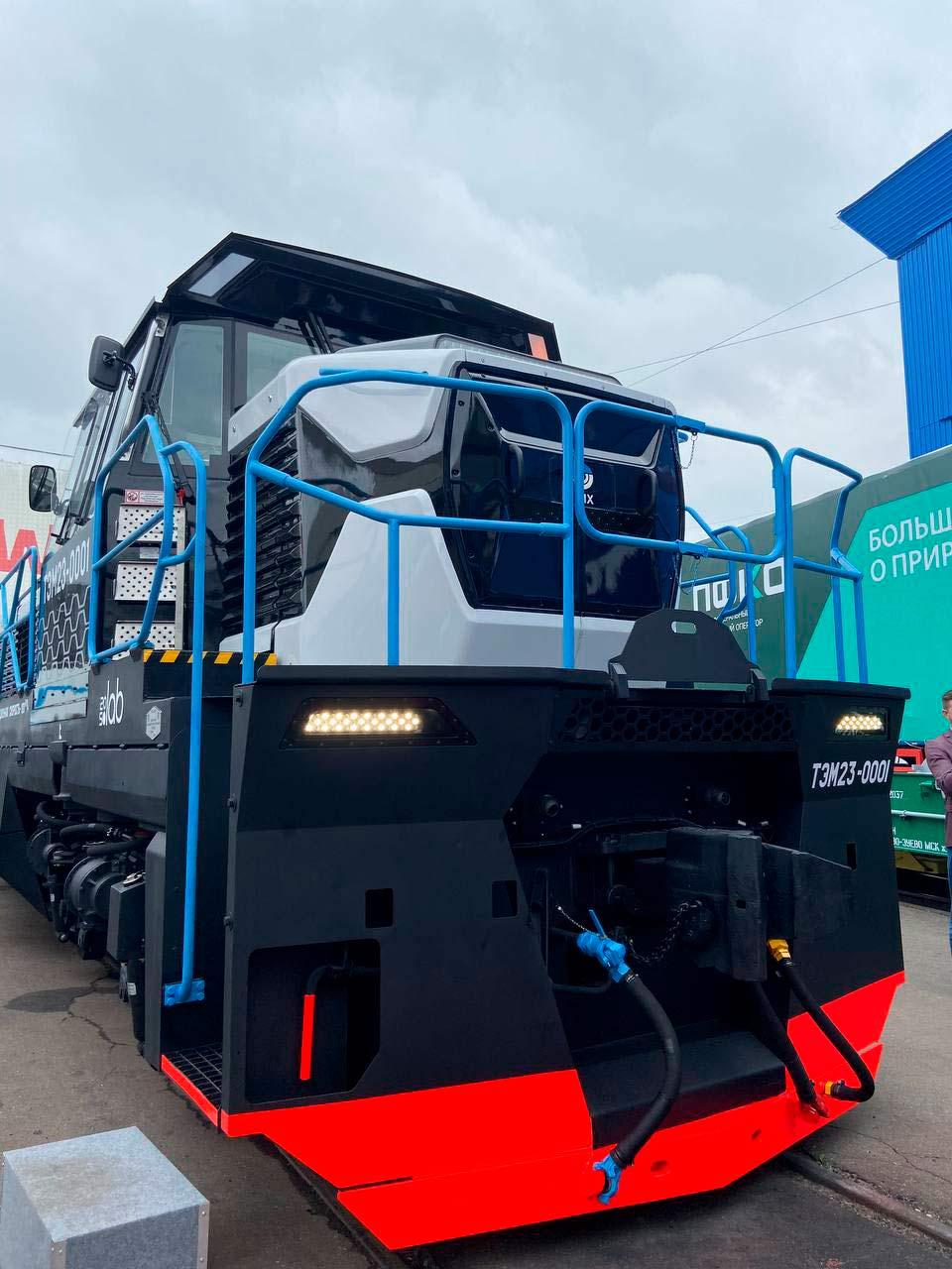 дизайн новейшего маневрового локомотива ТЭМ23